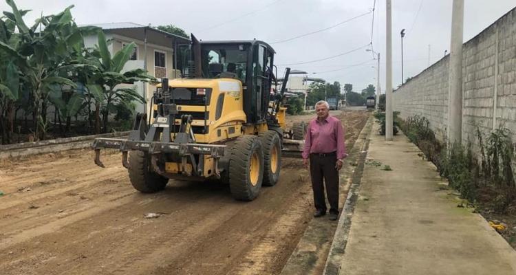 El GAD Parroquial La Peaña realizó la limpieza de las calles en los barrios Federico Ribera y Barrio Central.